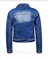 Джинсовая куртка для девочек оптом, Glo-story, 122/128-158/164 рр., арт. GSX-8048, фото 2