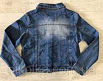 Джинсовая куртка для девочек оптом, Glo-story, 122/128-158/164 рр., арт. GSX-8048, фото 7