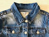Джинсовая куртка для девочек оптом, Glo-story, 122/128-158/164 рр., арт. GSX-8048, фото 5