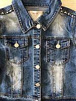 Джинсовая куртка для девочек оптом, Glo-story, 122/128-158/164 рр., арт. GSX-8048, фото 4