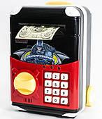 Игрушечный сейф Batman Cartoon Bank с кодовым замком Бетмен на колесах как чемодан сейф