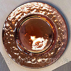 Тарелка обеденная золотая из цветного стекла Роуз 32 см арт. HM0016