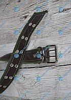 Ошейник комбинированный 30мм/кожа-брезент