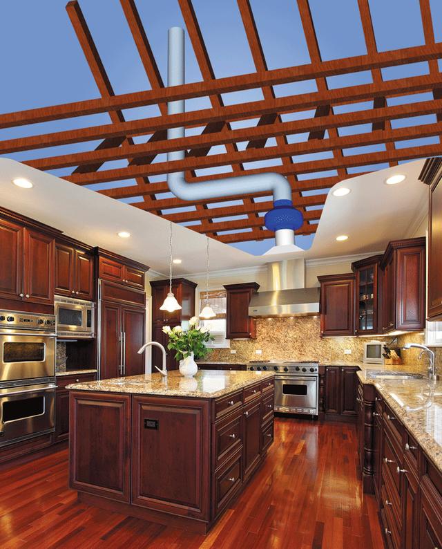 Применение канального вентилятора VENTS VKM на кухне