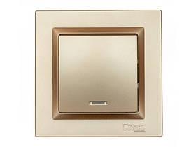 Выключатель с подсветкой Luxel JAZZ (9605) Бронзовый