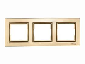 Рамка 3-я горизонтальная Luxel JAZZ (9623) Бронзовая