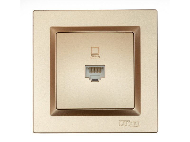 Компьютерная розетка Luxel JAZZ (9627) Бронзовая
