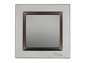 Выключатель одинарный Luxel JAZZ (9702) Графитовый
