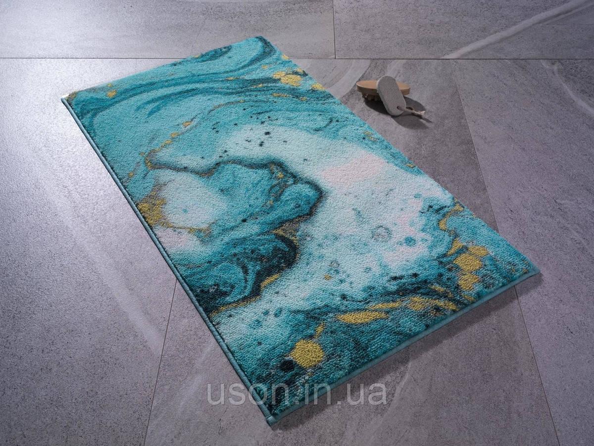Килимок для ванної Confetti Marbling turkuaz