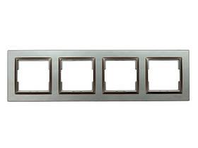 Рамка 4-я горизонтальная Luxel JAZZ (9224) Терракотовая