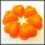 Силіконова форма Сердечко в сердечку квіткою, фото 10