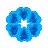 Силіконова форма Сердечко в сердечку квіткою, фото 7