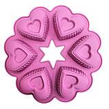 Силіконова форма Сердечко в сердечку квіткою, фото 8