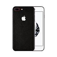 Защитная виниловая наклейка для iPhone 7 plus чёрный кожа. Чехол для задней поверхности телефона