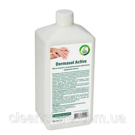 Жидкое мыло с антисептическим действием ДЕРМАСОЛ АКТИВ, 1 л., фото 2