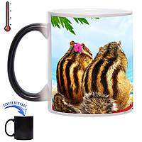 Чашка-хамелеон Бурундуки на море 330 мл