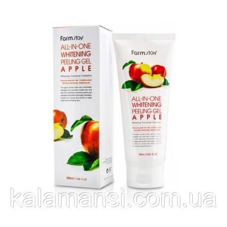 Пилинг гель с фруктовыми кислотами Farmstay All in one Apple Whitening Peeling Gel