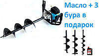 Мотобур  5200Вт Champion (3 шнека + масло в подарок 150-200-250мм), фото 1