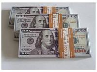 Сувенирные деньги 100 долларов нового образца. Пачка долларов 80 шт.