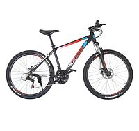Горный велосипед Trinx MAJESTIC M100 Matt Black-Red-White 26 колеса х 17 рама