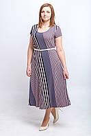 Женское летнее платье Диагональ масло. Размер 50-54