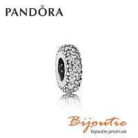 Pandora шарм-разделитель СВЕРКАЮЩЕЕ ПАВЕ №791359CZ серебро 925 Пандора оригинал
