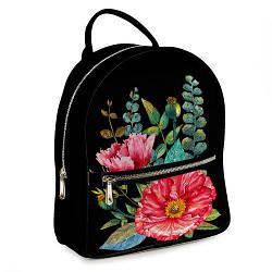 Міський жіночий рюкзак Квіти (ERK_17A006_BL)