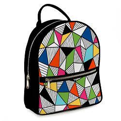 Рюкзак міський жіночий Візерунок (ERK_17A013_BL)