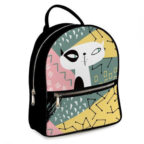 Городской женский рюкзак Кот (ERK_17A016_BL)