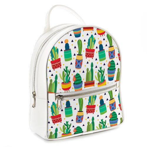 Городской женский рюкзак Кактусы (ERK_17A032_WH)