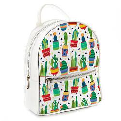 Міський жіночий рюкзак Кактуси (ERK_17A032_WH)