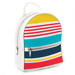 Міський жіночий рюкзак Смужки (ERK_17A033_WH)