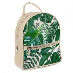 Міський жіночий рюкзак Тропічні листя (ERK_17A059_SBR)