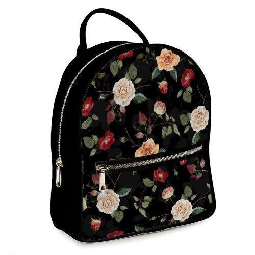 Городской женский рюкзак Розочки (ERK_FFL007_BL)