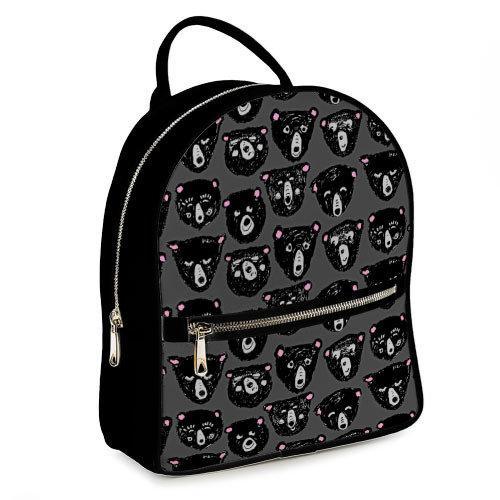 Городской женский рюкзак Эмоции мишки (ERK_FM005_BL)