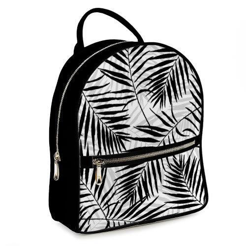 Городской женский рюкзак Листья (ERK_TRO009_BL)