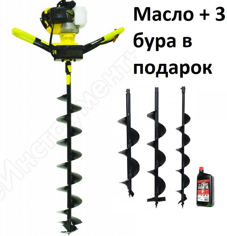 Мотобур Калибр БС (3 Бура+масло) 4800вт