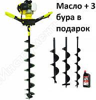 Мотобур Калибр БС (3 Бура+масло) 4800вт, фото 1