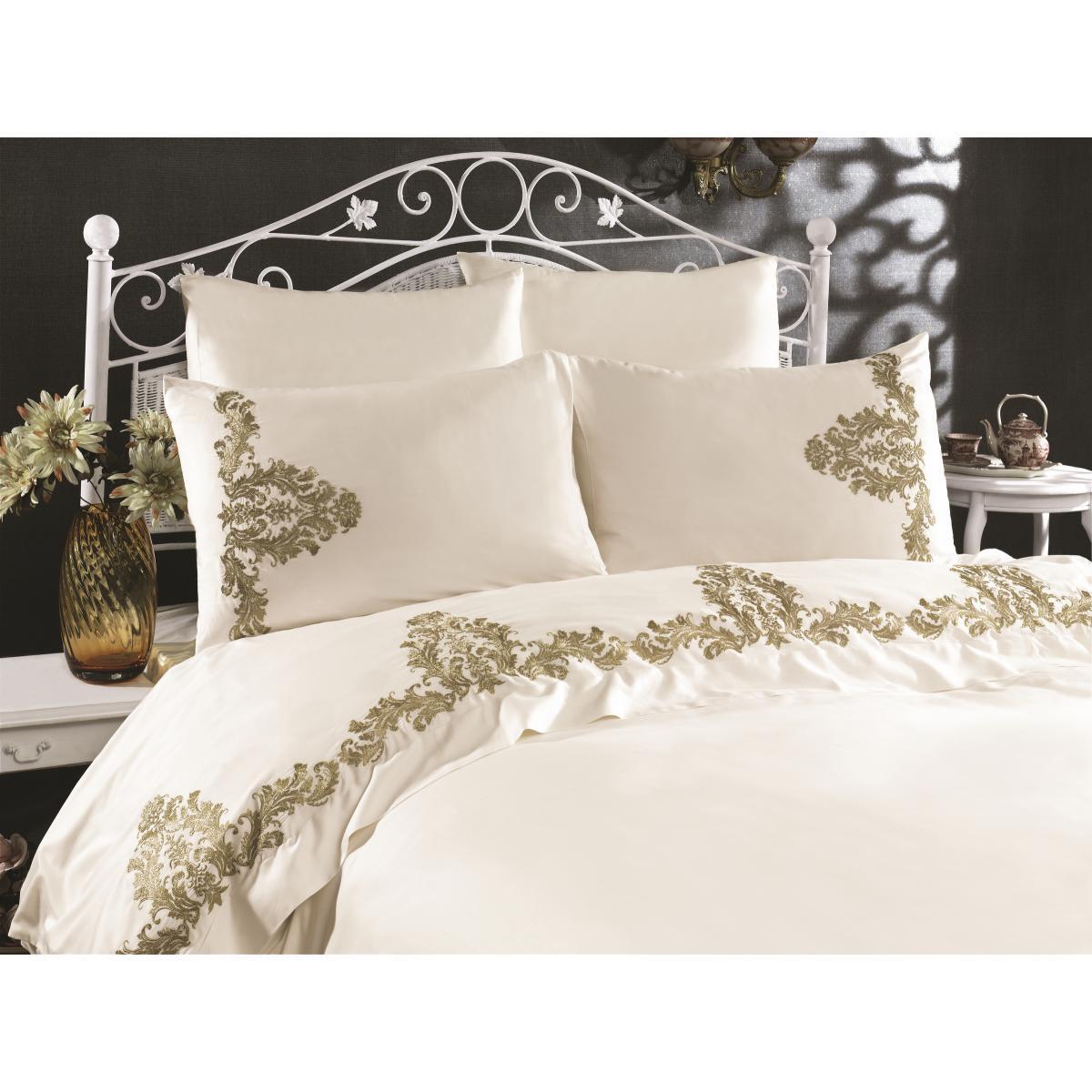 Двуспальное постельное Белье Arya c Кружевом Nova  200x220 см (TR1006888)