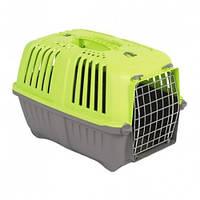 MPS Pratico 1 контейнер для транспортировки животных с металлической дверцей, зеленый.