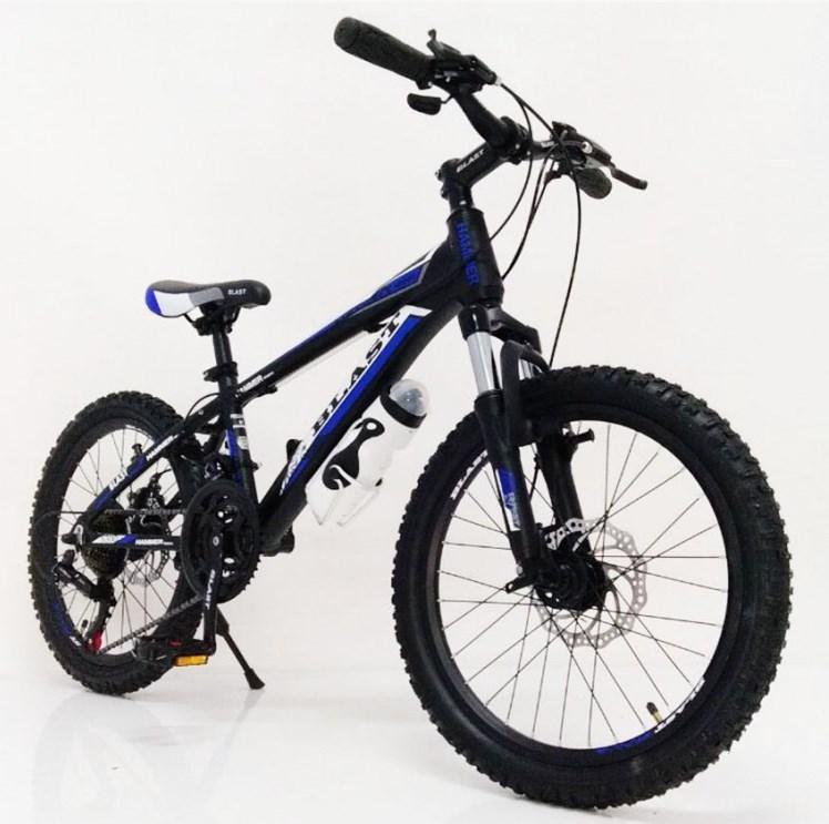 Подростковый велосипед колеса 24 дюймов S300 Blast-New Чёрно-Синий
