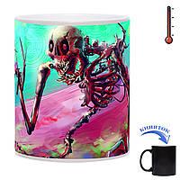 Чашка-хамелеон Весенний череп 330 мл