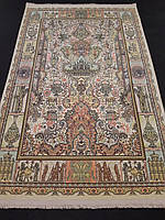 """Перський килим 2,25х1,5 метра блідо-салатового кольору серії """"Персія"""" виробництва Ірану"""