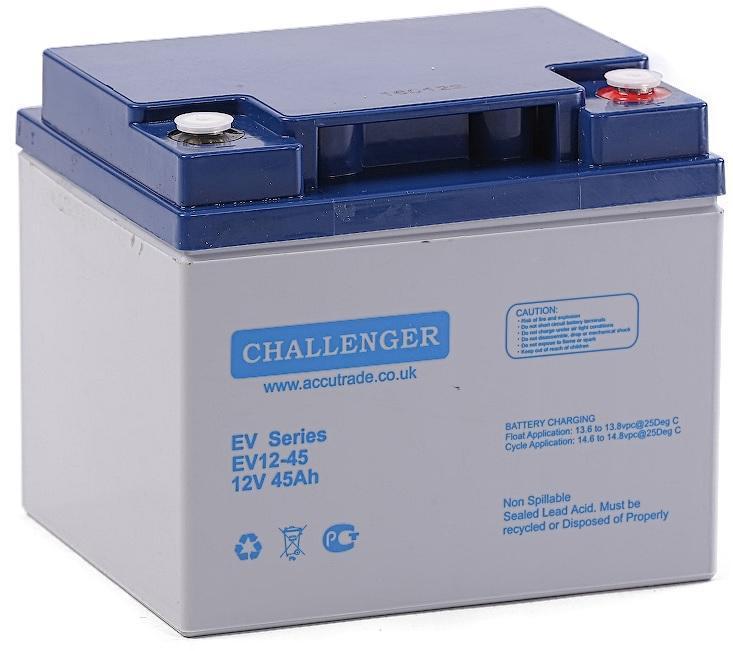 Аккумулятор для электроскутеров, инвалидных колясок, электровелосипедов EV12-45 (12Вольт, 45Ач).