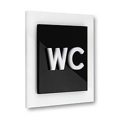 Табличка на туалет WC
