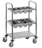 Тележка сервировочная Saro INES для столовых приборов (3 полки)
