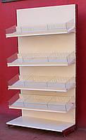 Торговый кондитерский стеллаж «Колумб» 230х95 см., кремовый, Б/у