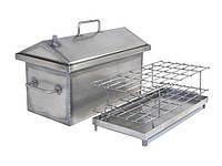 Домашняя коптильня горячего копчения с гидрозатвором (300х250х200)