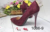 Туфлі жіночі класичні бордо,марсал, фото 1