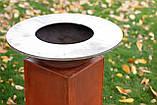 Гриль-мангал, барбекю HOLLA GRILL Original Rust  закрытая тумба, фото 7